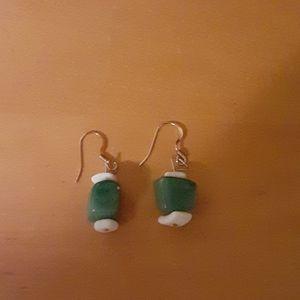 Jade Pierced Earings